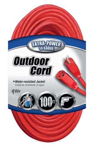 14 3 100 Red Outdoor Extension Cord At Menards Outdoor Extension Cord Extension Cord Buy Vinyl