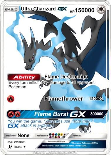Mega Charizard Ex Gx Pokemon Orica Proxy Card Cool Pokemon Cards Pokemon Cards Legendary Fake Pokemon Cards