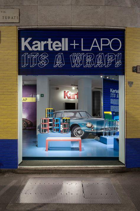 Kartell + Lapo Its a wrap! Fuorisalone Kartell Via Turati Milano ...