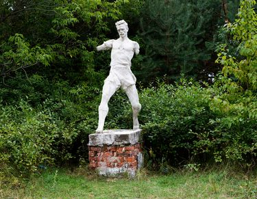 """Saatchi Online Artist Vladimir Fenichev; Photography, """"Thinking about time. Sculptures in the process of destruction. Football player"""" #art"""