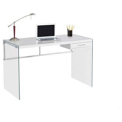 Remarkable Glass Desk In 2020 White Computer Desk Glass