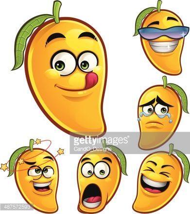 Mango Cartoon Set A Fruit Artwork Fruits For Kids Avocado Cartoon