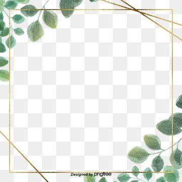 Green Simple Eucalyptus Leaf Border Flower Border Clipart Border Leaf Png Transparent Clipart Image And Psd File For Free Download Leaf Border Floral Border Design Simple Borders