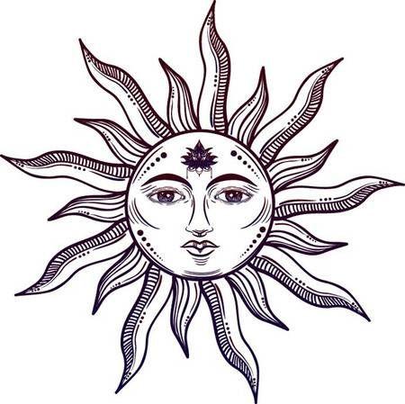 Sun With Face