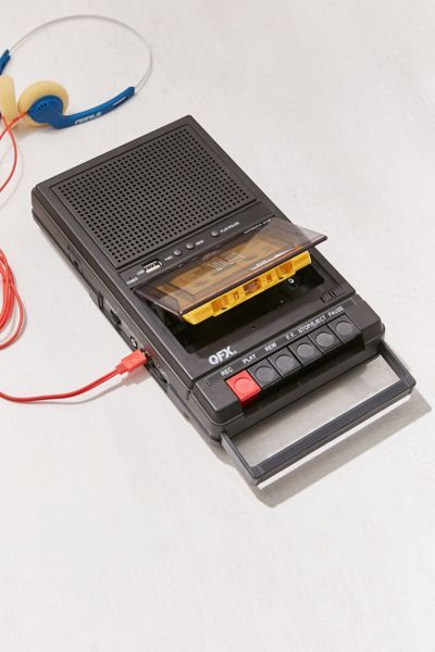 Slide View: Retro Shoebox Cassette Tape Recorder + USB Player- Urban Outfitters—reminds me of 13 Reasons Why