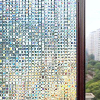 Rabbitgoo Fensterfolie 3d Dekofolie Sichtschutzfolie Statisch Selbsthaftend Ohne Kleber Wiederverwen Fensterfolie Fensterfolie Sichtschutz Fenster Privatsphare
