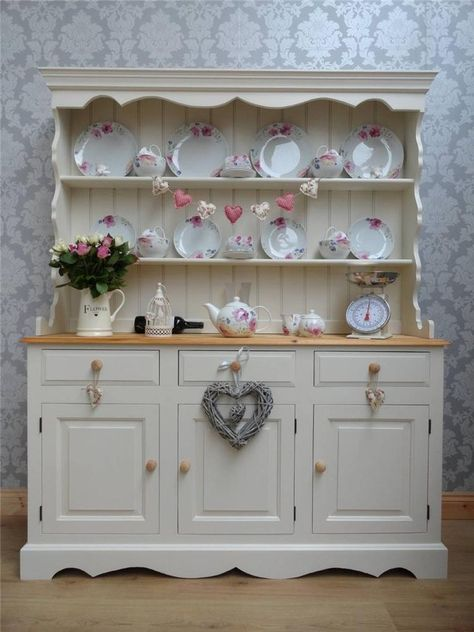 BEAUTIFUL SOLID PINE FARMHOUSE WELSH DRESSER/DISPLAY/KITCHEN/SHABBY CHIC