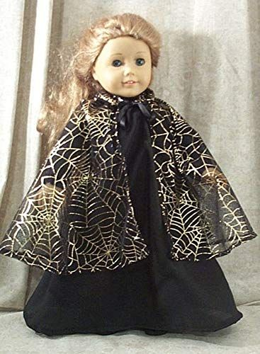 """Doll Clothes Made 2 Fit American Girl 18/"""" inch Cape Ivory Fleece with Hood"""