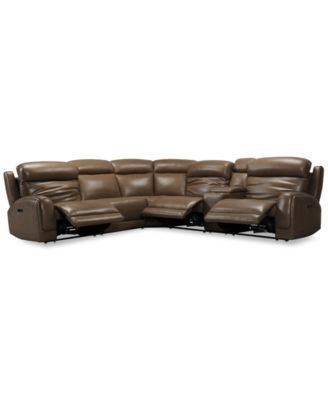 Miraculous Winterton 6 Pc Leather Sectional Sofa With 3 Power Pdpeps Interior Chair Design Pdpepsorg