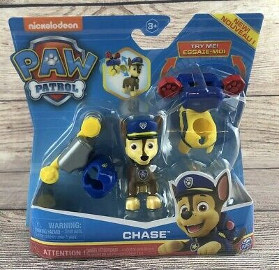 Paw Patrol Chase Pup Figure With 2 Clip On Pup Pack Outfits New Ebay Paw Patrol Chase Paw Patrol Paw