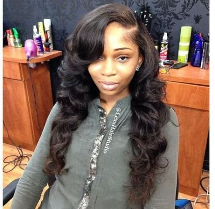 Hair Extensions Styles Sew Ins Loose Waves 22 Ideas Weave Hairstyles Hair Styles Curly Hair Styles