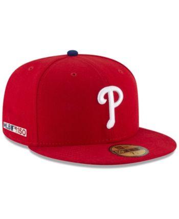 New Era Philadelphia Phillies 150th Anniversary 59fifty Fitted Cap Red 7 1 8 Fitted Hats New Era Philadelphia Phillies