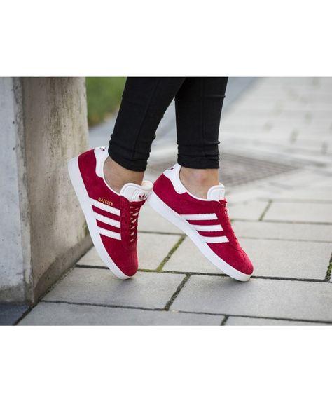 womens red gazelle adidas