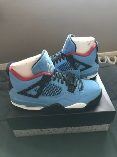 Nike Air Jordan 4 Retro Travis Scott Cactus Jack Size 10 5 With