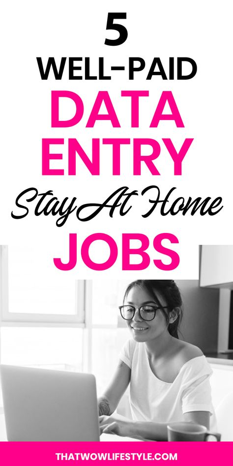 5 Well-Paid Data Entry Stay At Home Jobs