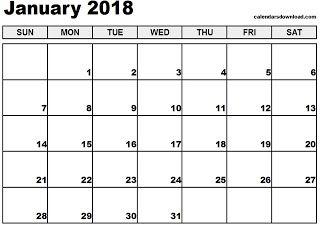 image regarding Printable Pocket Calendars titled No cost Printable Calendar January 2018 No cost Printable