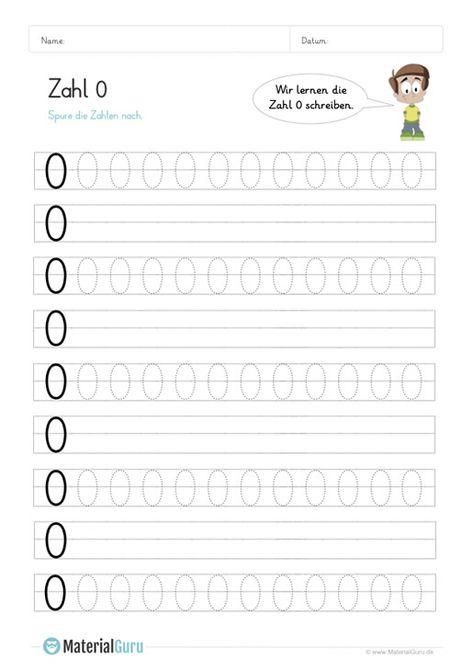 Ein Kostenloses Mathe Arbeitsblatt Zum Schreiben Lernen Der Zahl 0 Auf Dem Die Kinder Die Zahl 0 Auf Linien Nachspuren Sollen Jetzt Kostenlos Schreiben Lernen