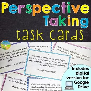 Perspective Taking Task Cards Distance Learning By Pathway 2 Success Teachers Pay Teachers In 2020 Perspective Taking Task Cards Social Scripts