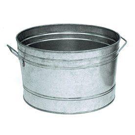 Achla Designs 5 Gallon Steel Beverage Cooler C 50 With Images Steel Tub Galvanized Tub Beverage Tub