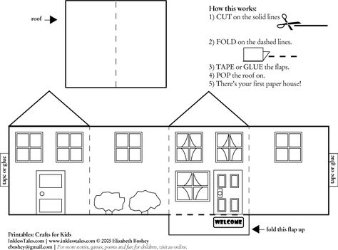 House Cutout Craft To Color  Print Color Fun Free Printables