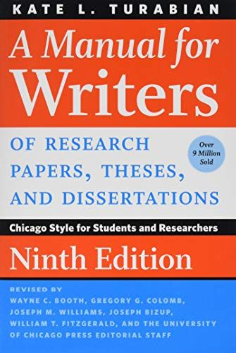 Download Pdf A Manual For Writers Of Research Papers Theses And Dissertations Ninth Edition Chicago Style For Research Paper Editing Writing Dissertation