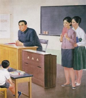 Kim Il Sung as a teacher (SOURCE: travelswithscott.com)