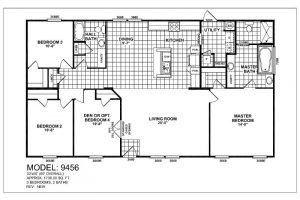 Meridian Vela 9456 3 4 Bedroom 2 Bathroom Mobile Home For Sale In 2020 Mobile Homes For Sale Fiberglass Shower Can Lights