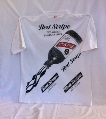 Vintage 90s Jamaica Red Stripe Beer Silk Screened T Shirt For Sale In Seattle Wa Offerup Silk Screen T Shirts Red Stripe Stripe