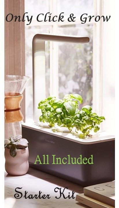 Gardening Interior Station Click Grow Herbs Led Lamp All Included