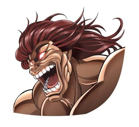 Yujiro Hanma From Anime Baki Anime Character Illustration