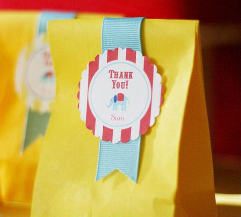 circus carnival party printable favor bag labels