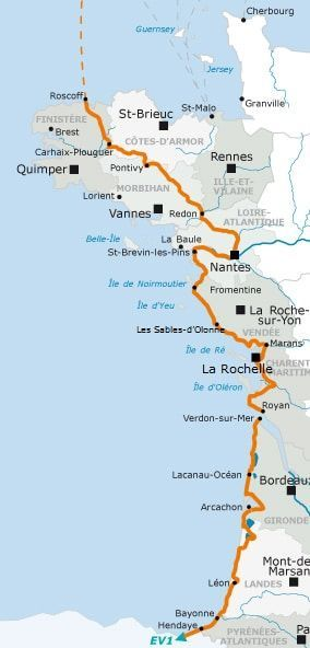Velodyssee Itinerary In 2020 Travel Project Bike Tour Cycling