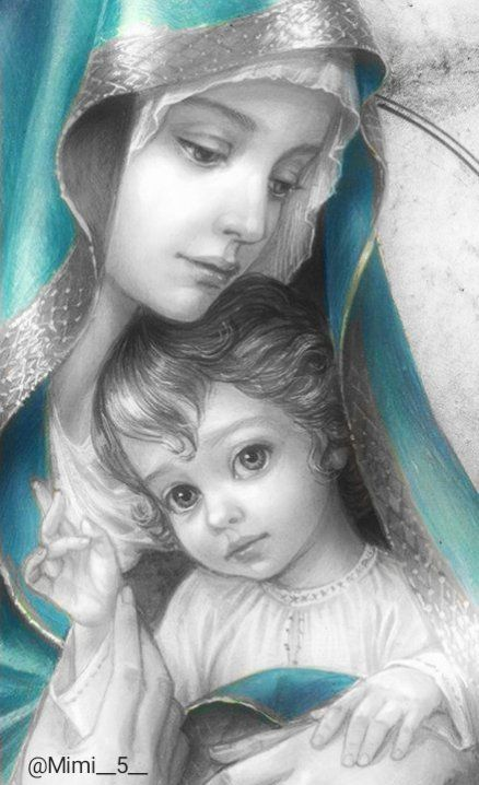 Mother Mary Images, Images Of Mary, Mama Mary Images, Pictures Of Jesus Christ, Religious Pictures, Jesus And Mary Pictures, Blessed Mother Mary, Blessed Virgin Mary, Catholic Art