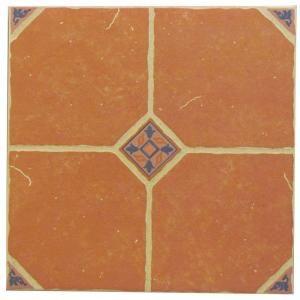 U S Ceramic Tile Terra Cotta 16 In X 16 In Ceramic Floor Tile