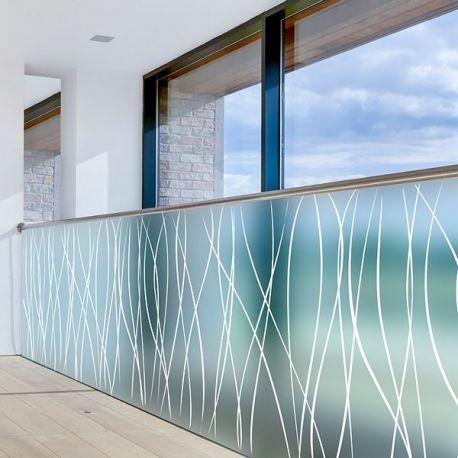 Film Adhesif Decoratif Vitrage Givre Motif Serpentins Blancs Decoration Maison Film Adhesif Decoratif Vitrail