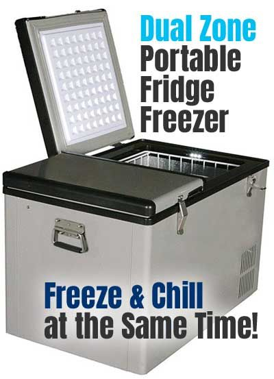 We Take A Look At The Dual Zone Whynter Portable Fridge Freezer Fm 62dz And Compare It To The Dometic Cfx 65dz How To Portable Fridge Fridge Freezers Freezer