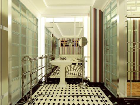 Art deco style apartment by Laurentiu Stanciu, via Behance