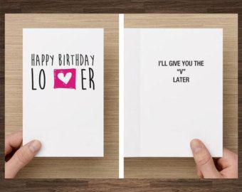 Naughty Birthday Card For Boyfriend Husband by diamonddonatello