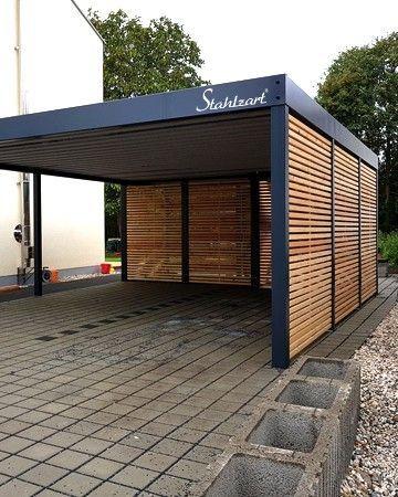 Carport Stahl Doppelcarport Regensburg Trendy Stahlzart In 2020 Carport Designs Modern Carport House Outside Design