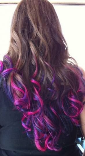 Best Hair Color Tips Purple Pink Ideas Hair Colored Hair Tips