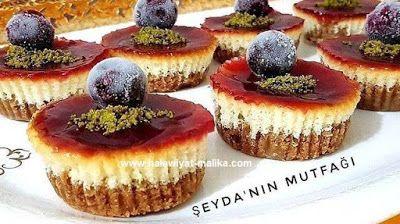 ميني تشيز كيك في الفرن بصوص كراميل Desserts Cheesecake Mini Cheesecake