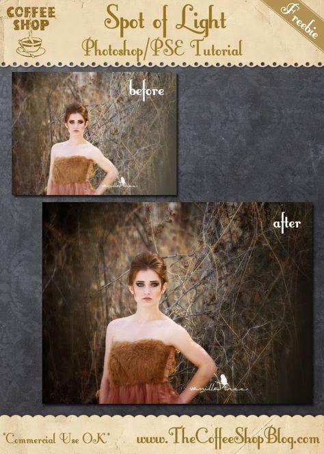 "CoffeeShop ""Spot of Light"" Photoshop/PSE Tutorial!"