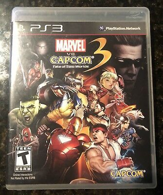 Ultimate Marvel Vs Capcom 3 Ps3 Playstation 3 Tested W Manual Complete Cib Marvel Movies Avengers Marvel Vs Ultimate Marvel Marvel Vs Capcom