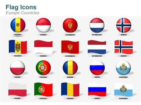 Flag Icons European Countries Flag Icon Flags Of European Countries European Countries