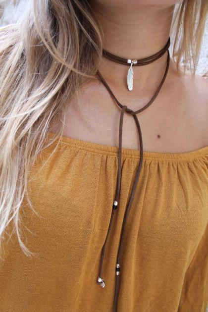 collier ficelle femme