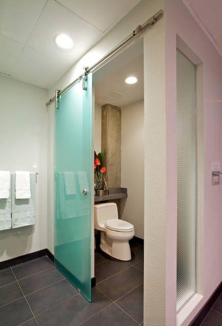 Online Shop Diyhd Glass Barn Door Hardware Frameless Glass Sliding Door Track Interior Office Glass Sliding Bar In 2020 Toilet Room Sliding Glass Door Glass Barn Doors