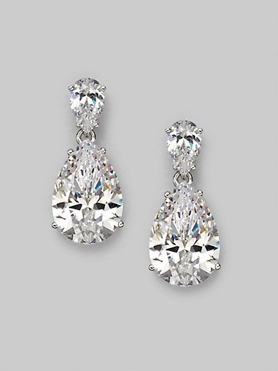 fpx product plated zirconia for pear macys cubic silver earrings bernini in gold halo drop created giani shop sterling