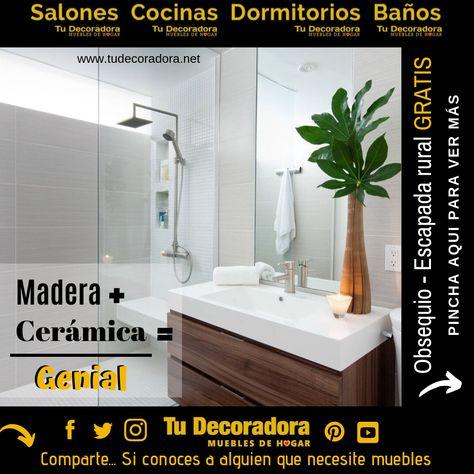 La suma perfecta para crear el baño que tanto has anhelado.  www.tudecoradora.net/banos-de-yecla/  Combina madera y cerámica, para conseguir un espacio acogedor lleno de calor, texturas y un ambiente que te relajara.  #hogar #venta #sofás #muebles #modernos #decorar #moda #interiores #tudecoradora #diseñointerior #decoracion #actuales #baños #Valencia #Albacete #Alicante #Murcia #España #FelizLunes #23Sep