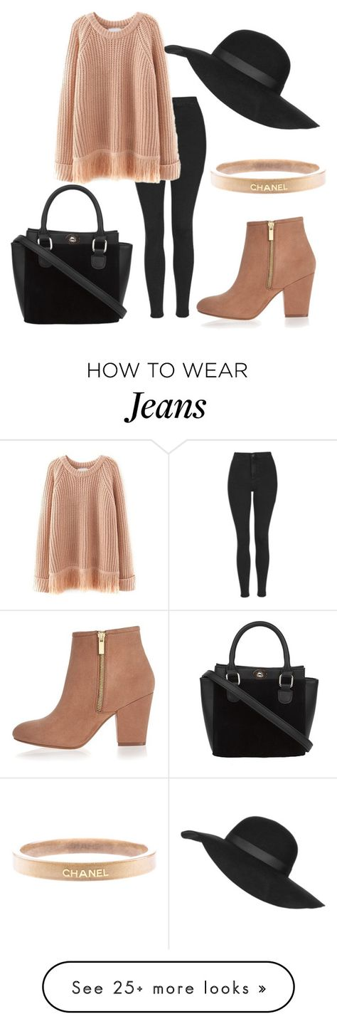 """"""":)"""" by heart235 on Polyvore featuring Topshop, River Island, Chanel, women's clothing, women, female, woman, misses and juniors"""