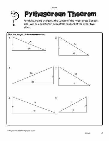 Pythagorean Theorem Practice Worksheet Pythagorean Exercises Worksheets In 2020 Pythagorean Theorem Worksheet Word Problem Worksheets Simplifying Rational Expressions